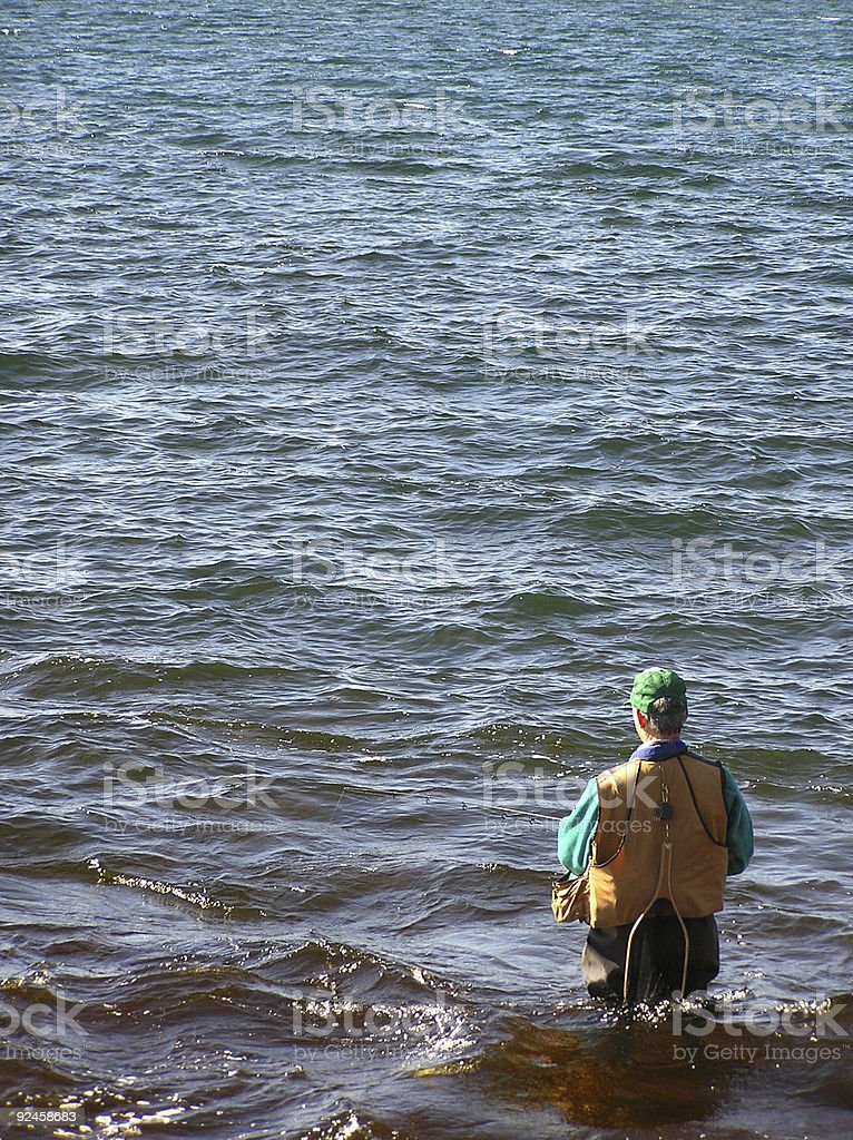 Lake Superior Fisherman royalty-free stock photo