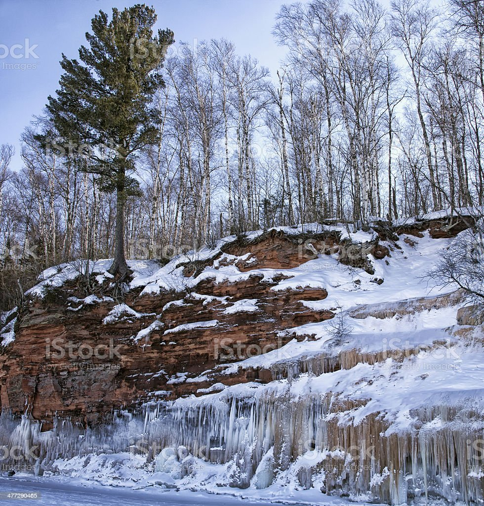 Lake Superior Ice Caves royalty-free stock photo