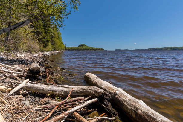 lake superior pigeon bay - provincial park stock photos and pictures