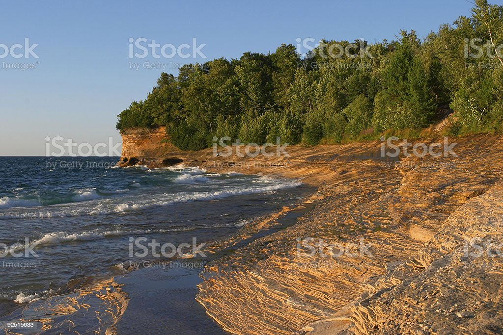 Lake Superior Sandstone Beach royalty-free stock photo