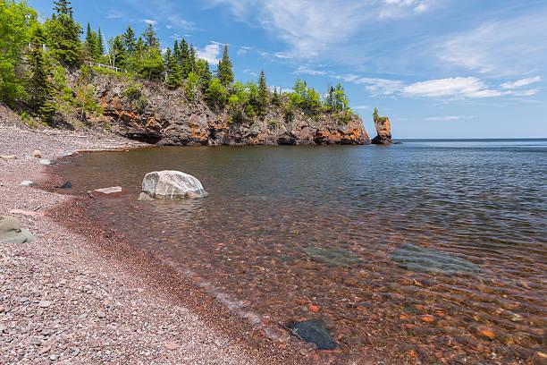 Lake Superior Scenic Shore stock photo