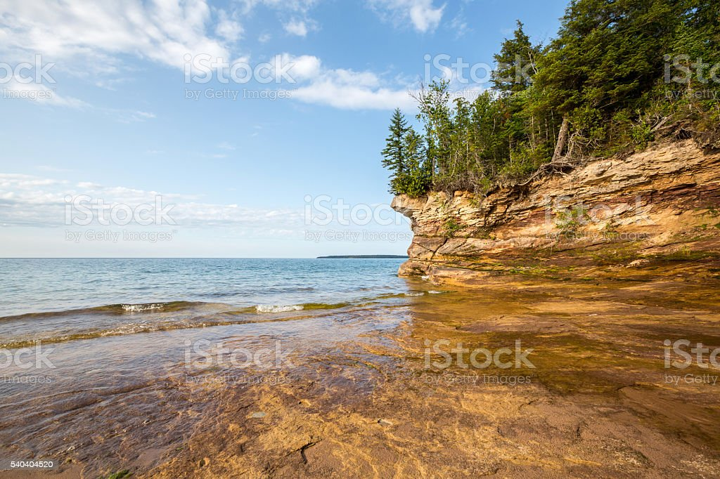 Lake Superior Shoreline stock photo