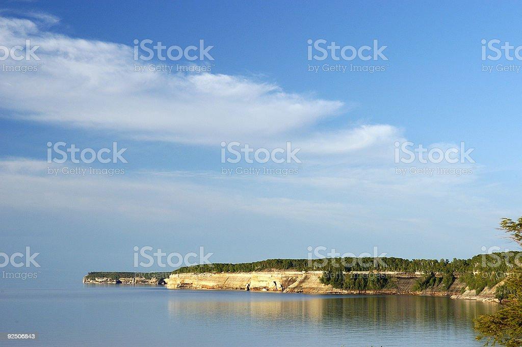 Lake Superior shoreline royalty-free stock photo