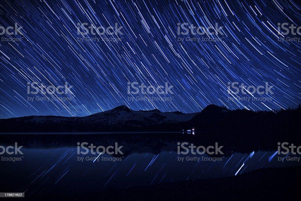 Lake Tahoe Area Night Sky stock photo