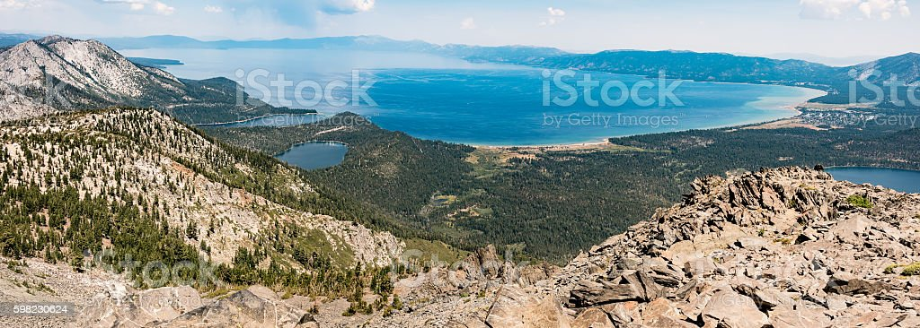 Lake Tahoe from Mount Tallac foto royalty-free