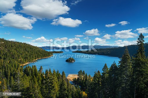 istock Lake Tahoe in famous California mountains - national park sierra nevada 1210808387
