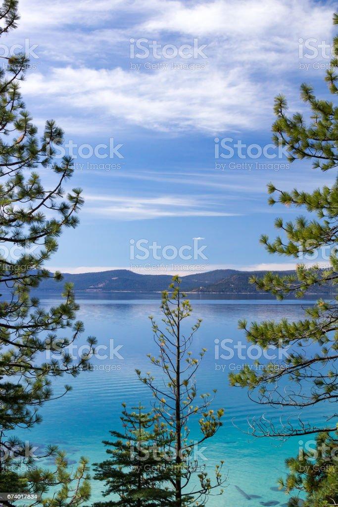 Lake Tahoe mountain landscape in California royalty-free stock photo