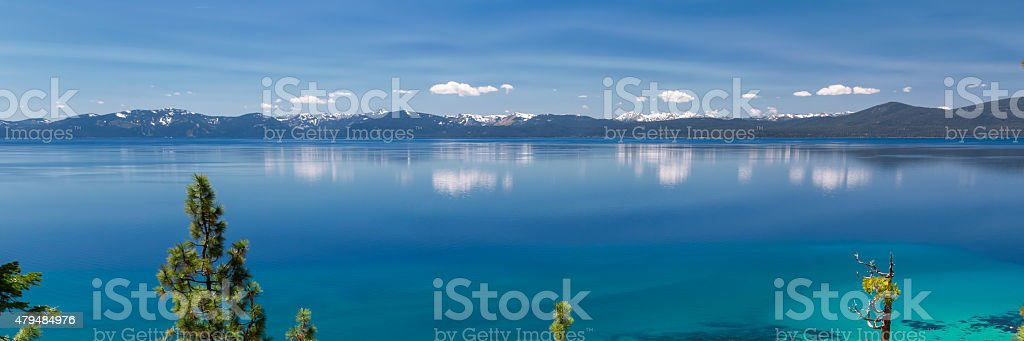 Lake Tahoe panorama stock photo