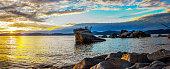 Lake Tahoe View  from lake shore