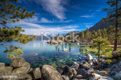 A beautiful day at the Sand Harbor area of Lake Tahoe