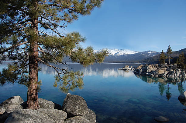 Lake Tahoe picture perfect stock photo