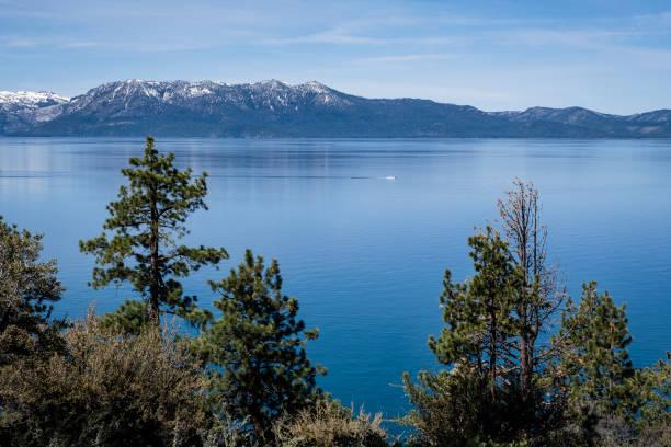 Lake Tahoe Viewed from Logan Shoals Vista stock photo