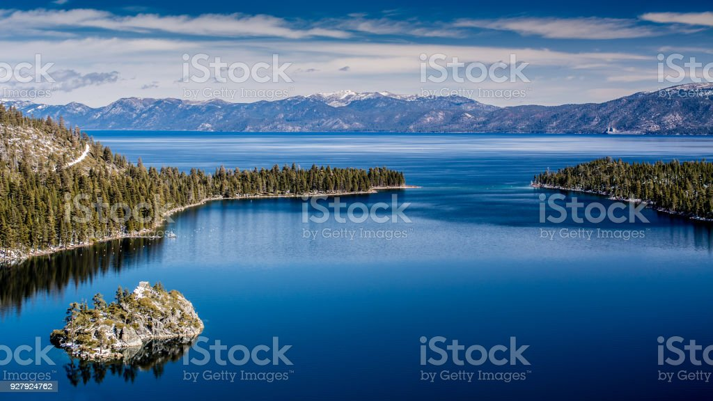 Lake Tahoe West shore view stock photo