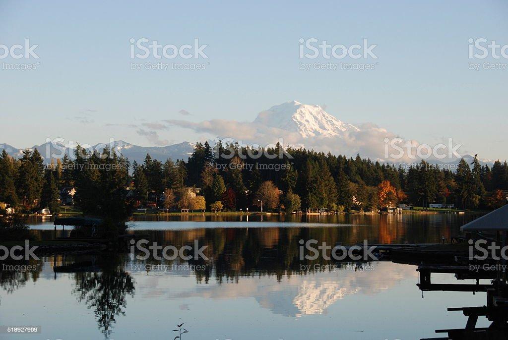 Lake Tapps, WA - Fall stock photo