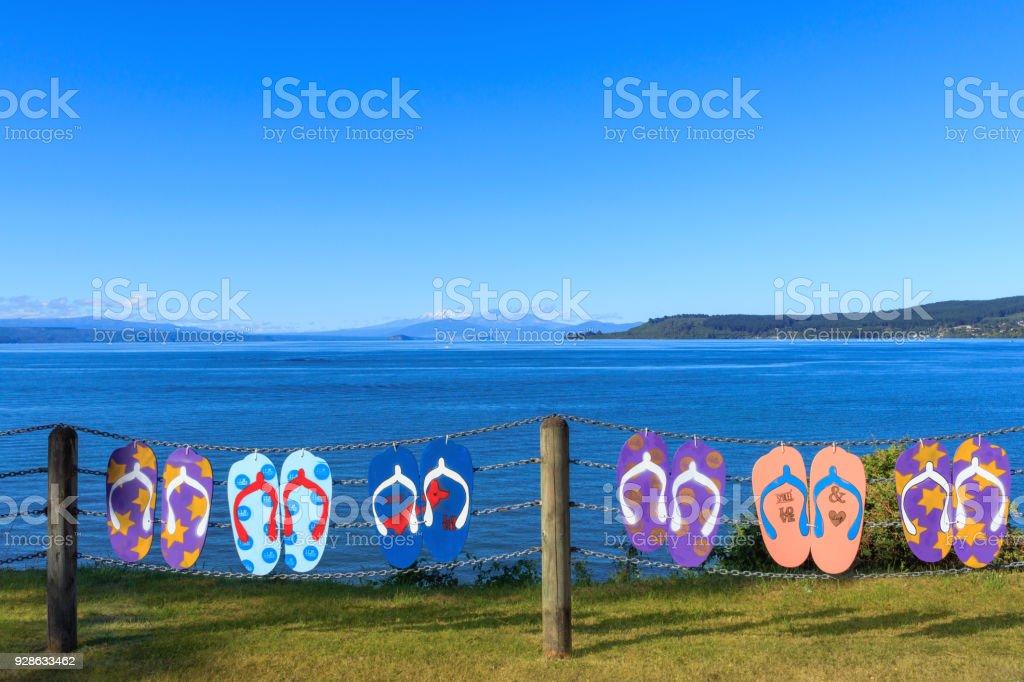 Lake Taupo, New Zealand stock photo