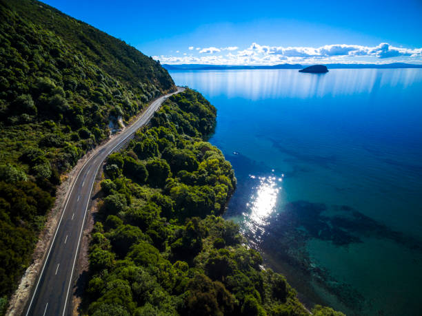 Lake Taupo stock photo