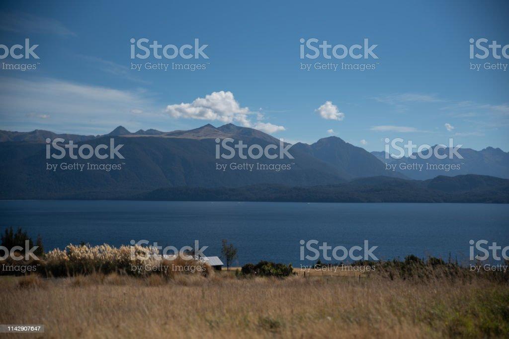 Lake Te Anau stock photo