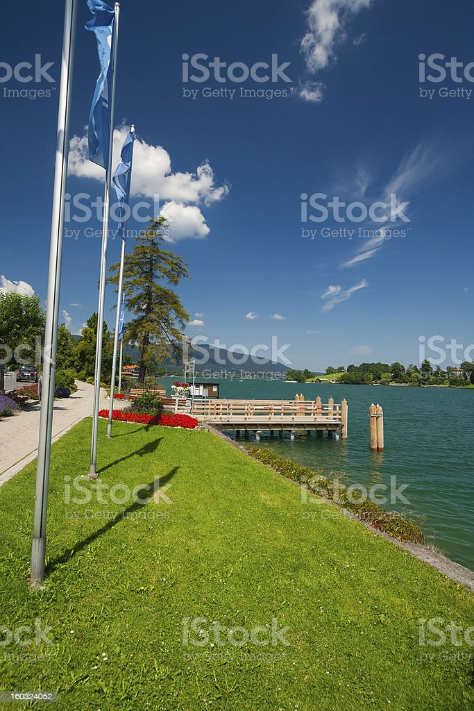 Lake Tegernsee in Bavaria royalty-free stock photo