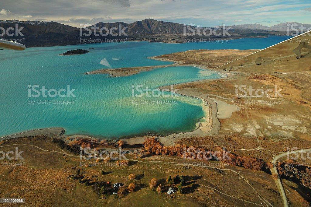 Lake Tekapo, New Zealand Landscape stock photo