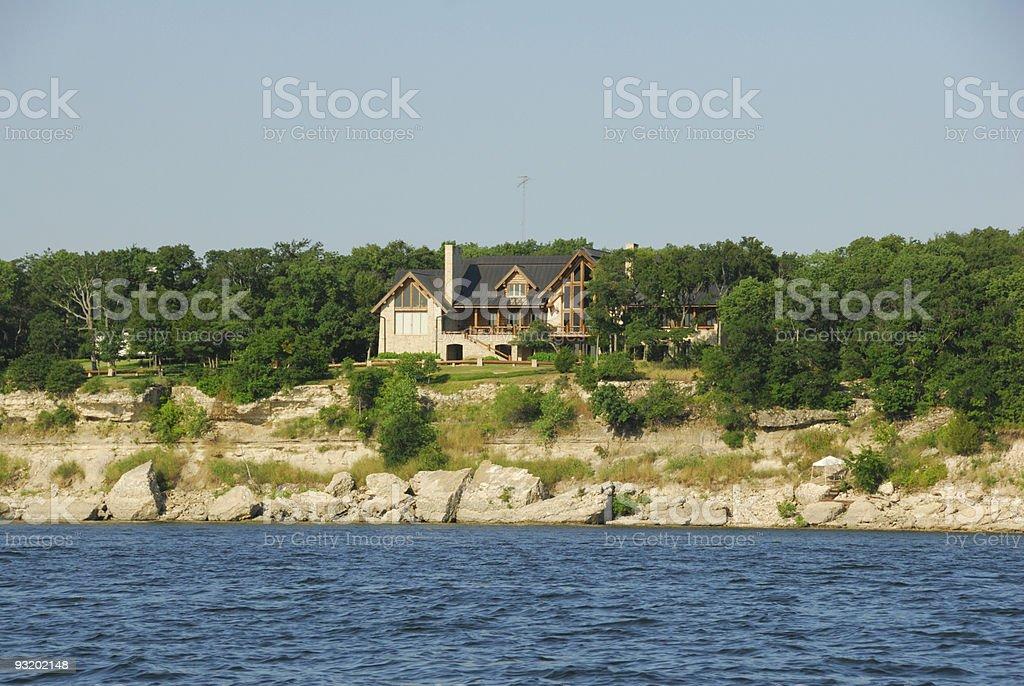 Lake Texoma House stock photo