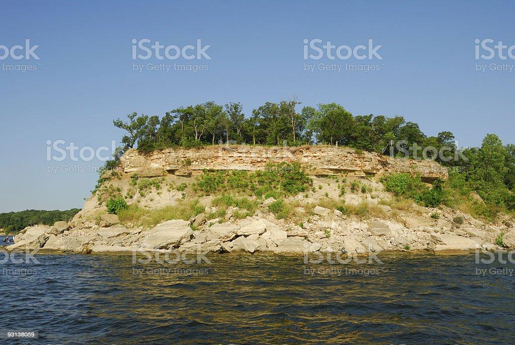 Lake Texoma Shoreline stock photo