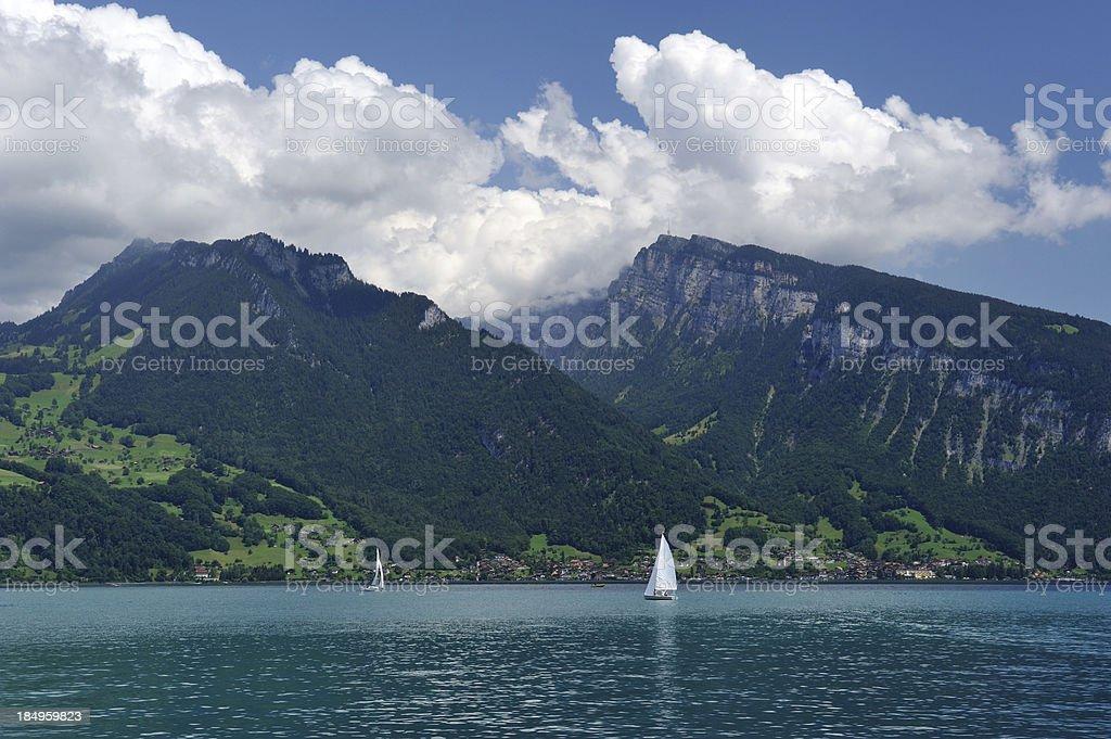 Lake Thun in Switzerland royalty-free stock photo