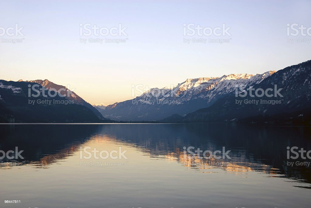 Thuner See - Interlaken royalty-free stock photo