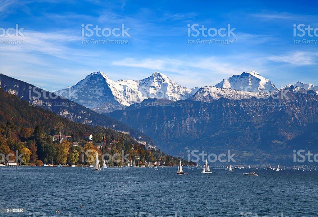Lake Thun stock photo