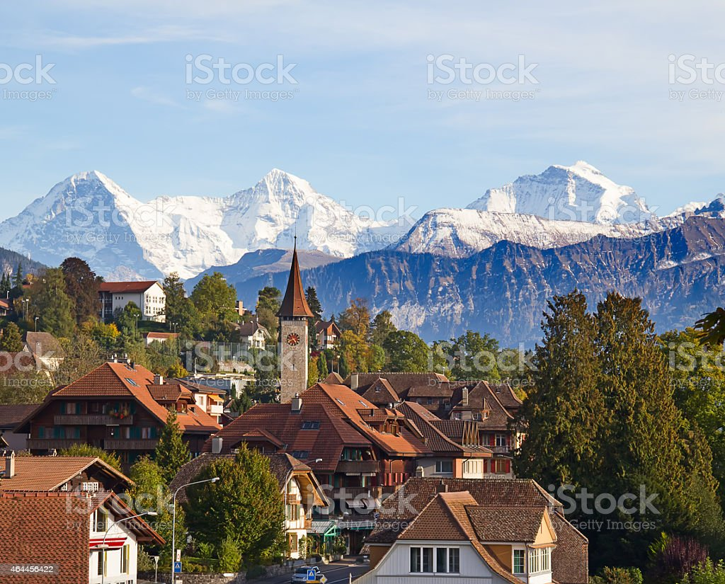 Lake Thun stock photo