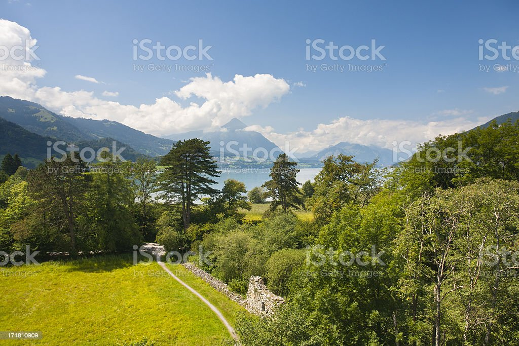 Lake Thun, Swiss Alps royalty-free stock photo