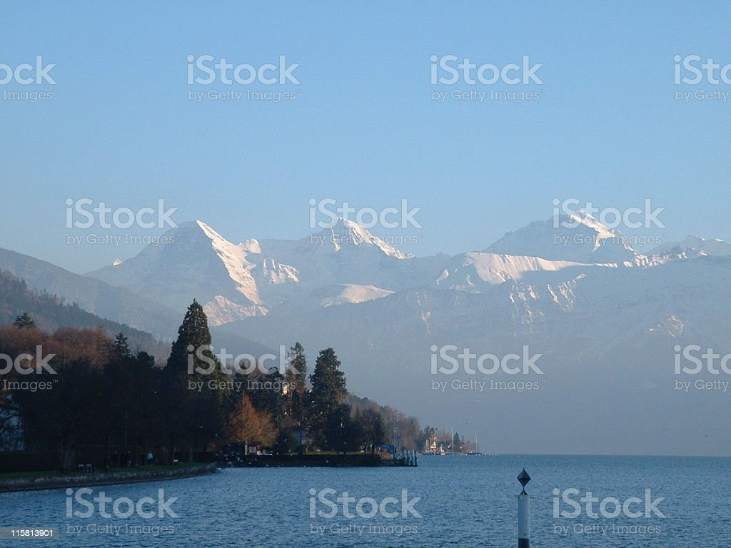 Lake Thun, Switzerland royalty-free stock photo