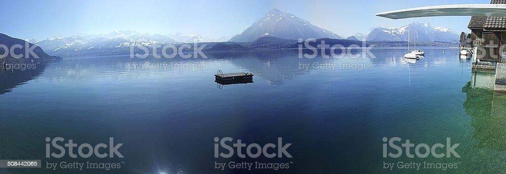 Lake Thun (Thunersee), Switzerland stock photo