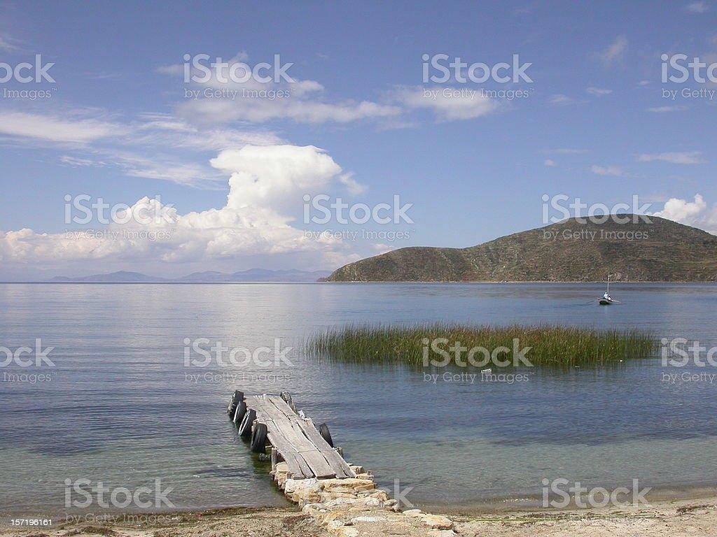 Lake Titicaca Bolivia royalty-free stock photo