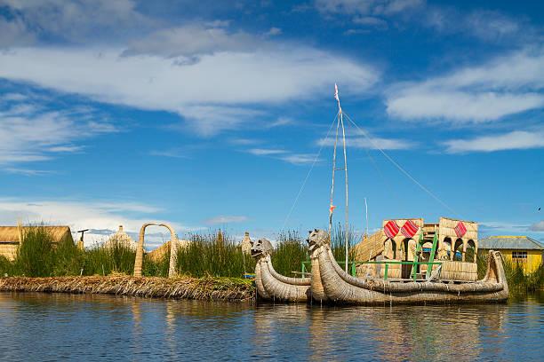 チチカカ湖プーノペルー南アメリカ - タキーレ島 ストックフォトと画像