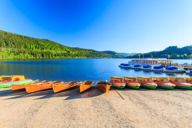Lake Titisee Neustadt in the Black Forest. Lake Titisee Neustadt in the Black Forest. Germany. lower saxony stock pictures, royalty-free photos & images