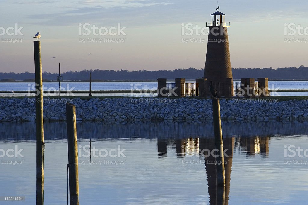 Lake Toho Lighthouse at Dawn stock photo