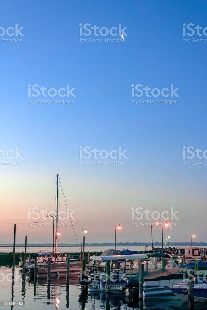 Lake Toho Marina at Dawn stock photo