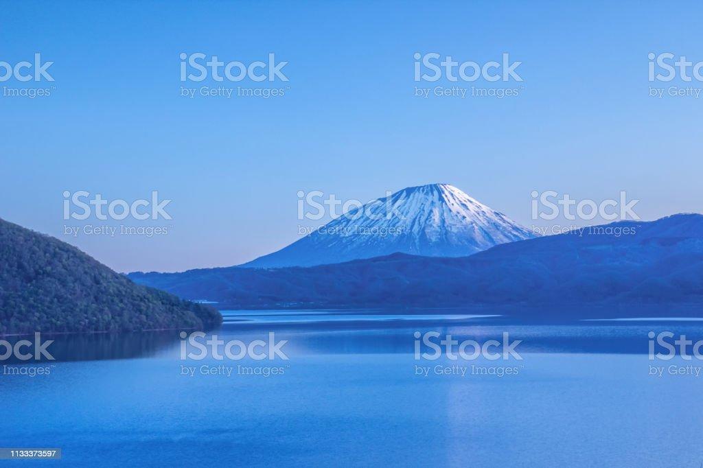 洞爺湖と羊蹄山 ストックフォト