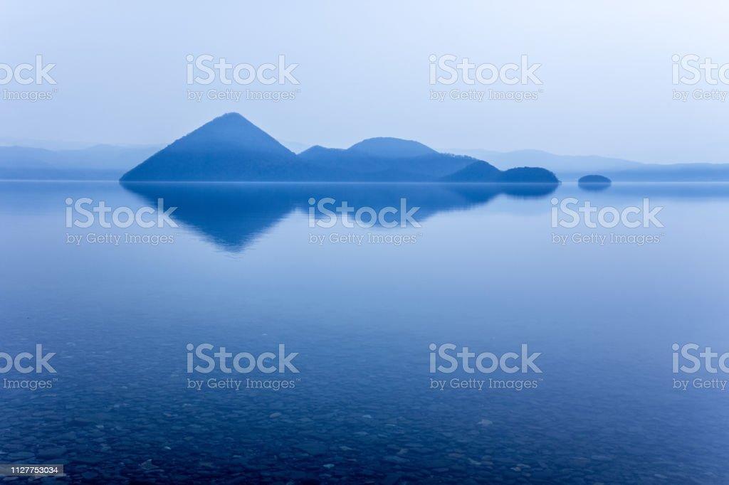 洞爺湖、北海道。 ストックフォト