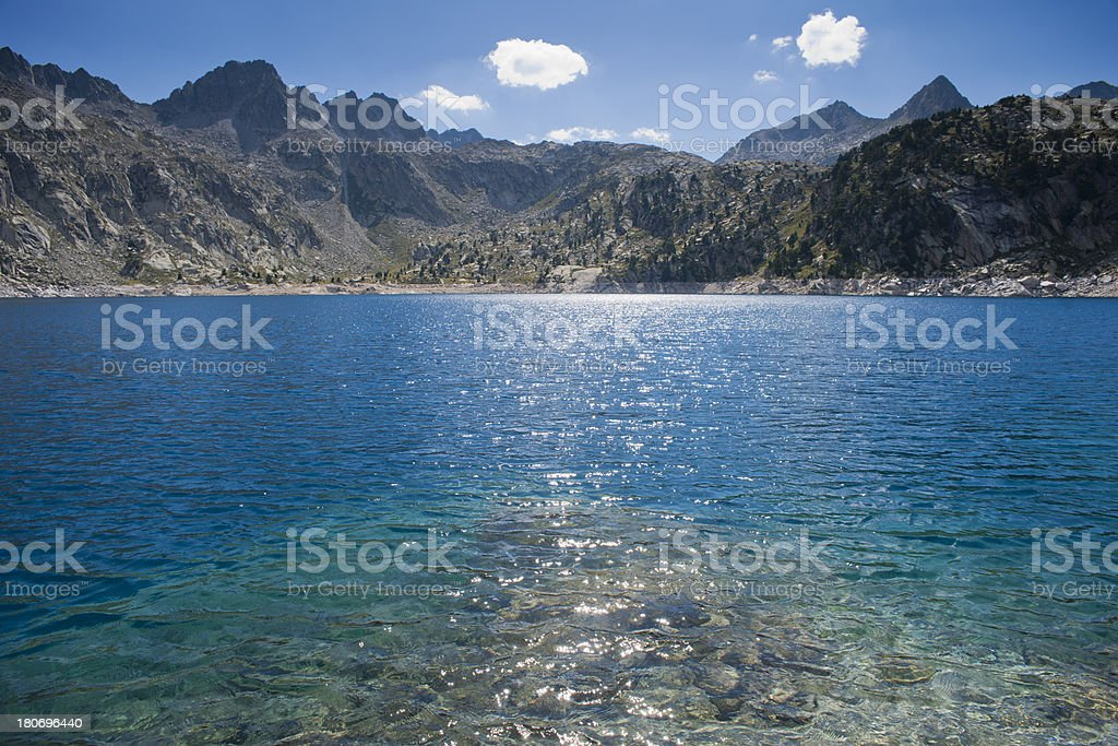 Lake Trullo royalty-free stock photo