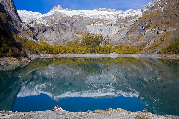 Lac de Tseuzier stock photo