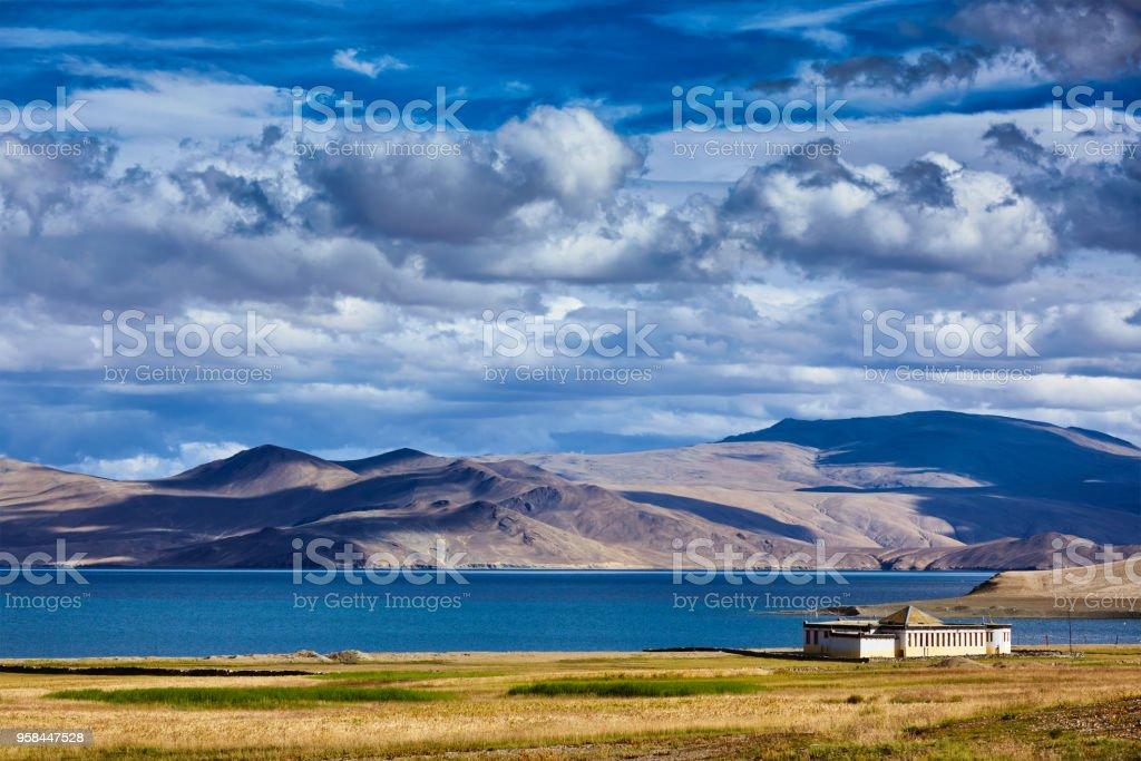 Lake Tso Moriri, Ladakh stock photo