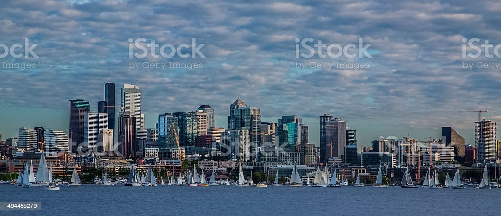Lake Union in Seattle stock photo