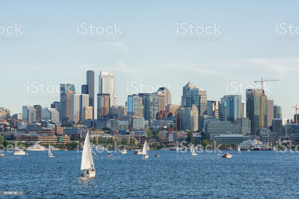 Lake Union, Seattle stock photo