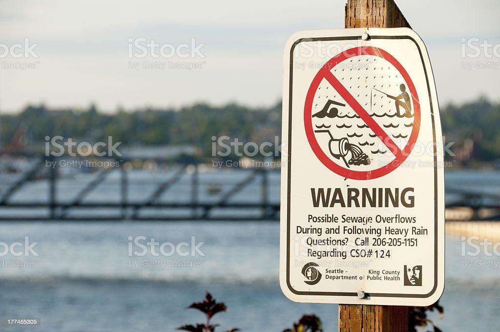 Lake Union Sewage Overflow royalty-free stock photo