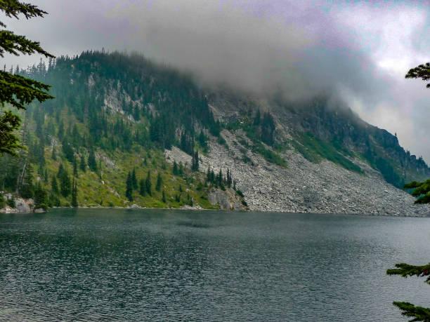 Lake Valhalla, Washington state stock photo