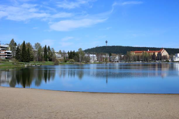 Lake Valkeinen, Kuopio During Spring stock photo