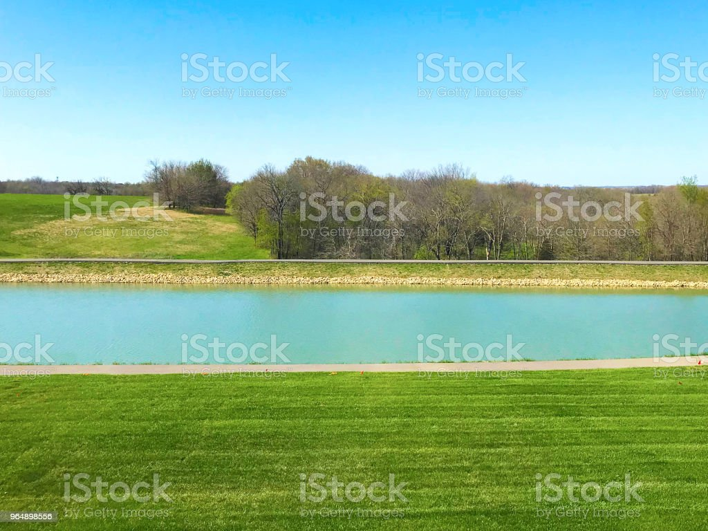 Lake View Backyard royalty-free stock photo
