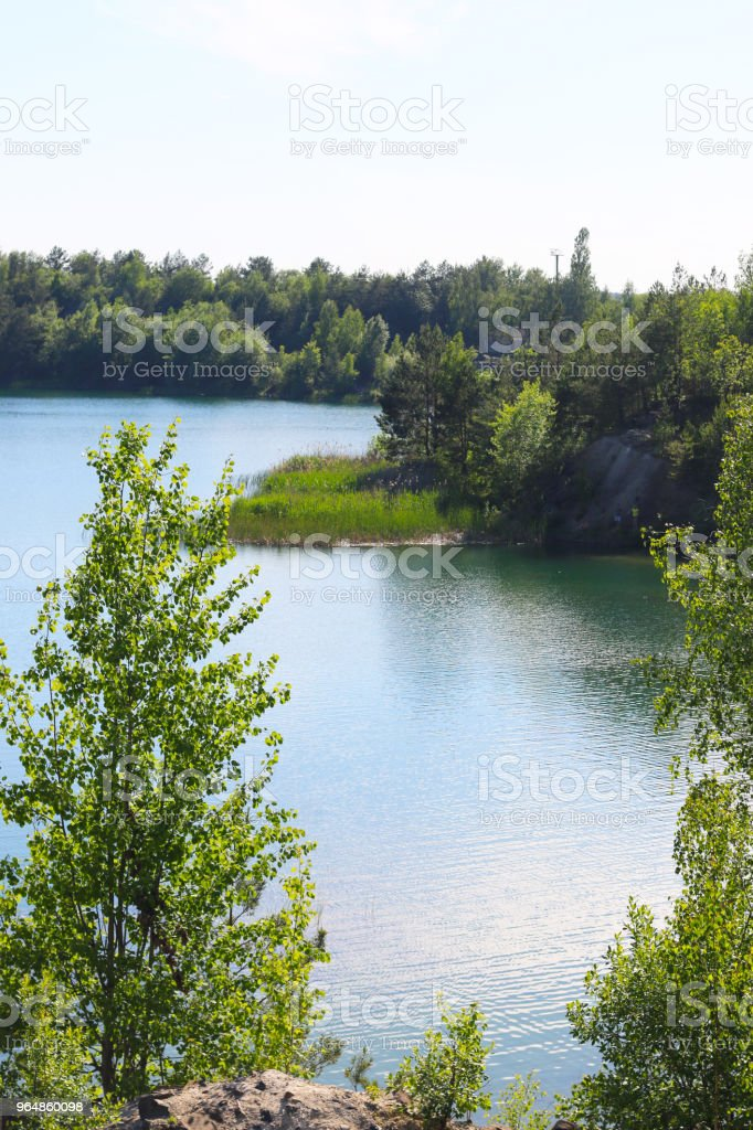 lake view from above royalty-free stock photo