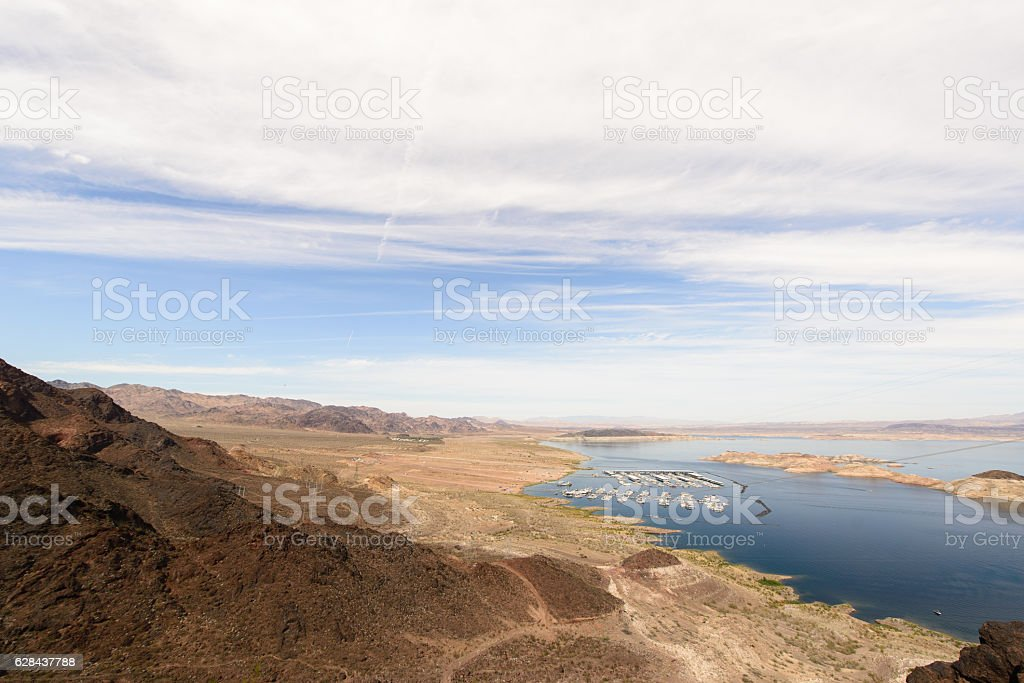 Lake view in Hoover dam stock photo